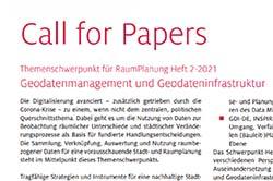 Deckblatt Call for Papers