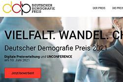 Einladungsflyer Deutscher Demografie Preis 2021