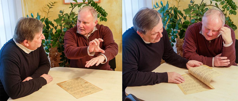 Claus J. Frankl (r.) und Chefdirigent Christian Simonis bereiten die Silvestergalas vor.