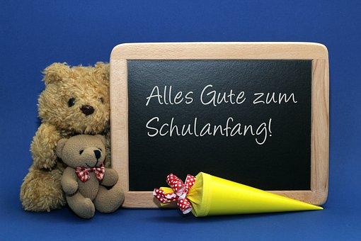 """Tafel """"Alles Gute zum Schulanfang"""""""