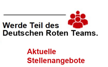 DRK Logo und Stellenangebote Hinweis