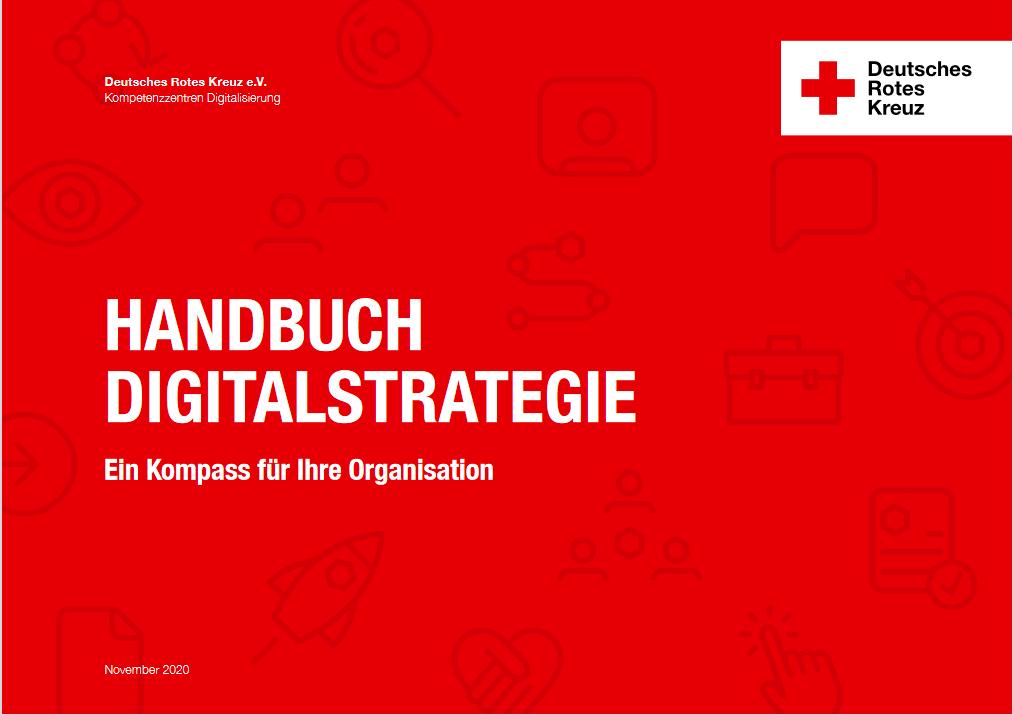 Das Deckblatt des Handbuchs Digitalstrategie
