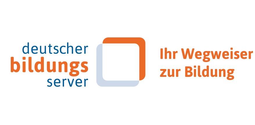 """Links steht """"Deutscher Bildungsserver"""" in der Mitte ein Viereck und rechts davon steht """"Ihr Wegweiser zur Bildung"""""""