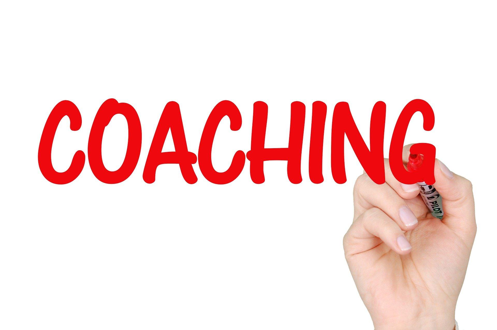 """Auf dem Bild steht """"Coaching"""""""
