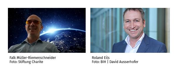 Portäts Falk Müller-Riemenscheid (links) und Roland Eils (rechts)