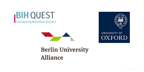Logos BIH QUEST Center, Berlin University Alliance, University of Oxford
