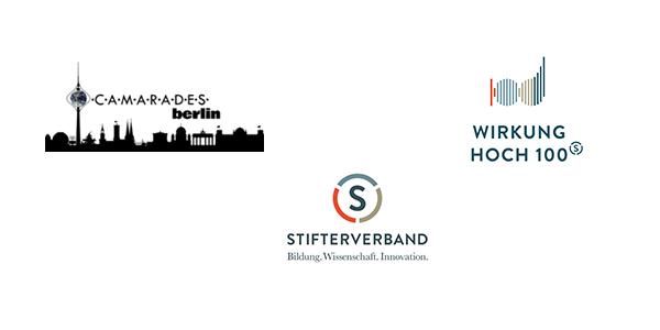 Logos Camarades Berlin, Dt. Stifterverband und Wirkung Hoch 100