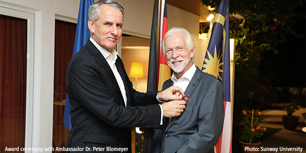 Award ceremony with Ambassador Dr. Peter Blomeyer