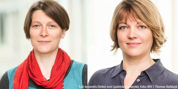 Porträts von Kati Jegzentis und Ljudmila Borisnko