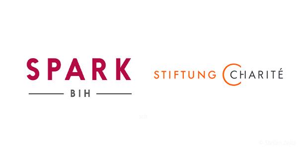 Logos Stiftung Charité und SPARK-BIH