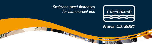 Stainless steel fasteners for commercial use