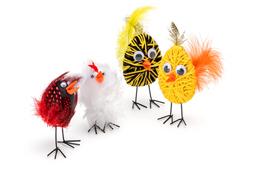 Wollwickel-Hühner
