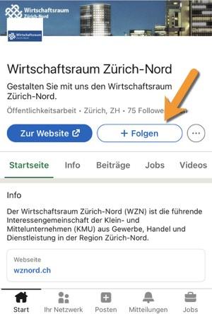Screenshot Linkedin-Profil WZN