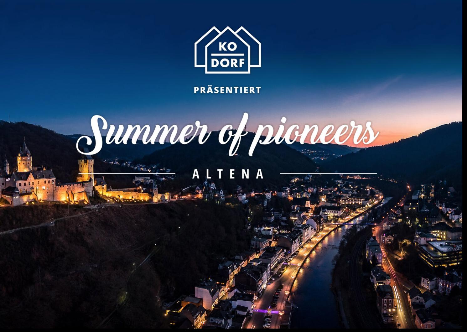 Summer of Pioneers in Altena