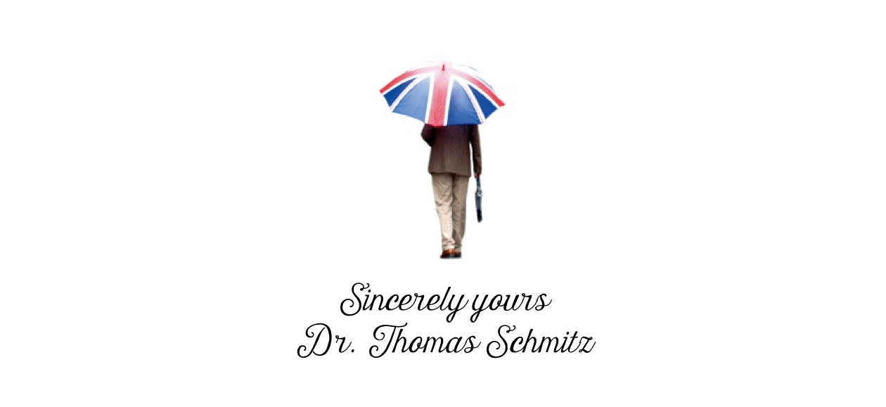 Sincerely yours Dr. Thomas Schmitz