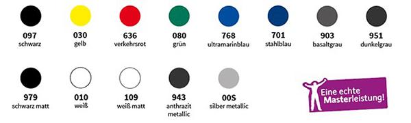 13 Top Farben mit Airscape Luftkanaltechnologie