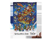 Schokoladenadventkalender wo der Weihnachtsmann schlimmten fährt