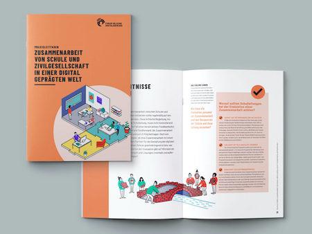 Praxisleitfäden zu Mikrofortbildungen und Zusammenarbeit von Schule und Zivilgesellschaft