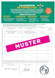 Muster Unterschriftenbogen