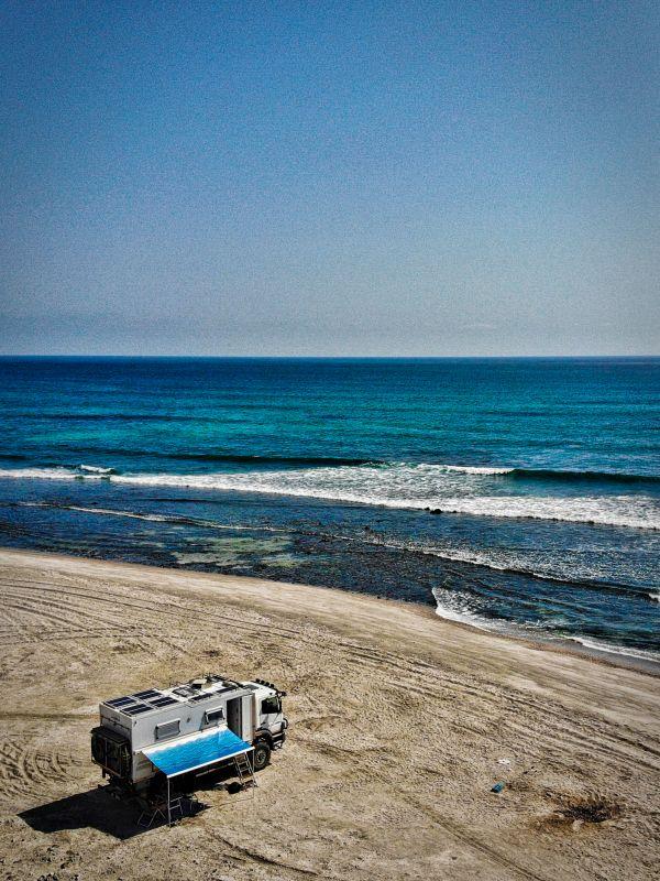 Wohnmobil auf der Insel Masira