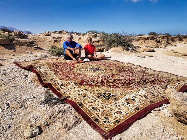 Teppich in der omanischen Wüste