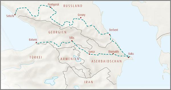 Allradreise Wilder Kaukasus