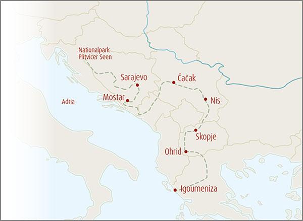 Balkantour Karte