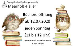 Bücherei ab 12. Juli geöffnet