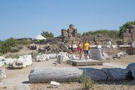 Ausgrabungen am Ortsrand von Side, T¸rkische Riviera Side, T¸rkische Riviera