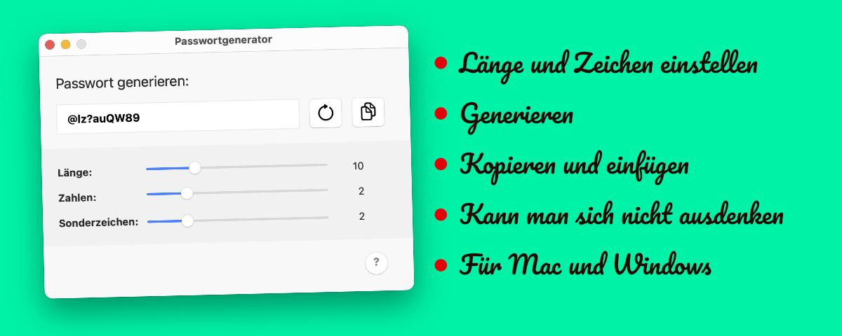 2Werken Passwortgenerator App