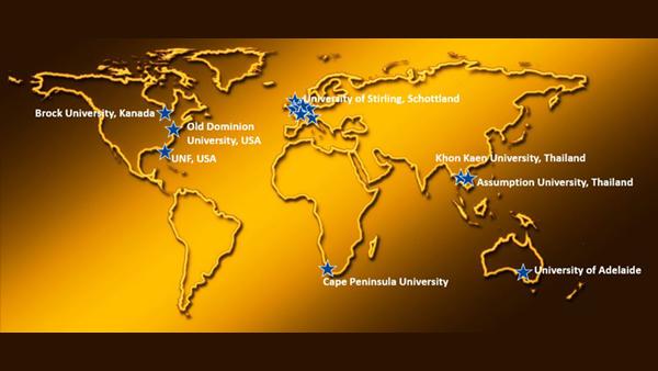 Weltkarte mit Stationen Auslandspraktika