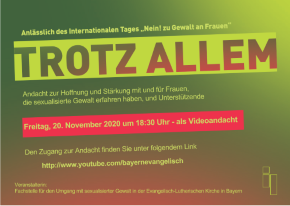 TROTZ ALLEM Andacht