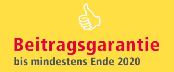 Beitragsgarantie 2020