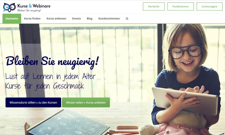 """KurseUndWebinare.de - das neue Bildungsportal   """"Weiterbilden, Gesellschaft stärken!"""" [Live-Webinar]"""