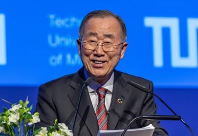 Ban Ki-moon; Foto: Andreas Heddergott /TUM