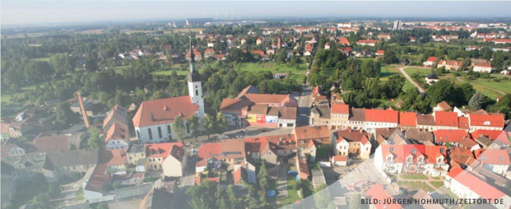 Header Bild: Luftaufnahme einer Ortschaft