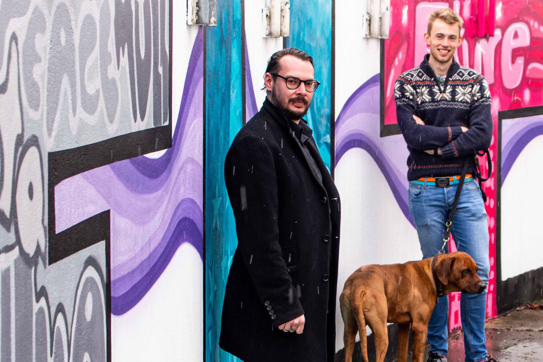 Projektkoordinatoren Daniel Marchand und Felix Tiemann