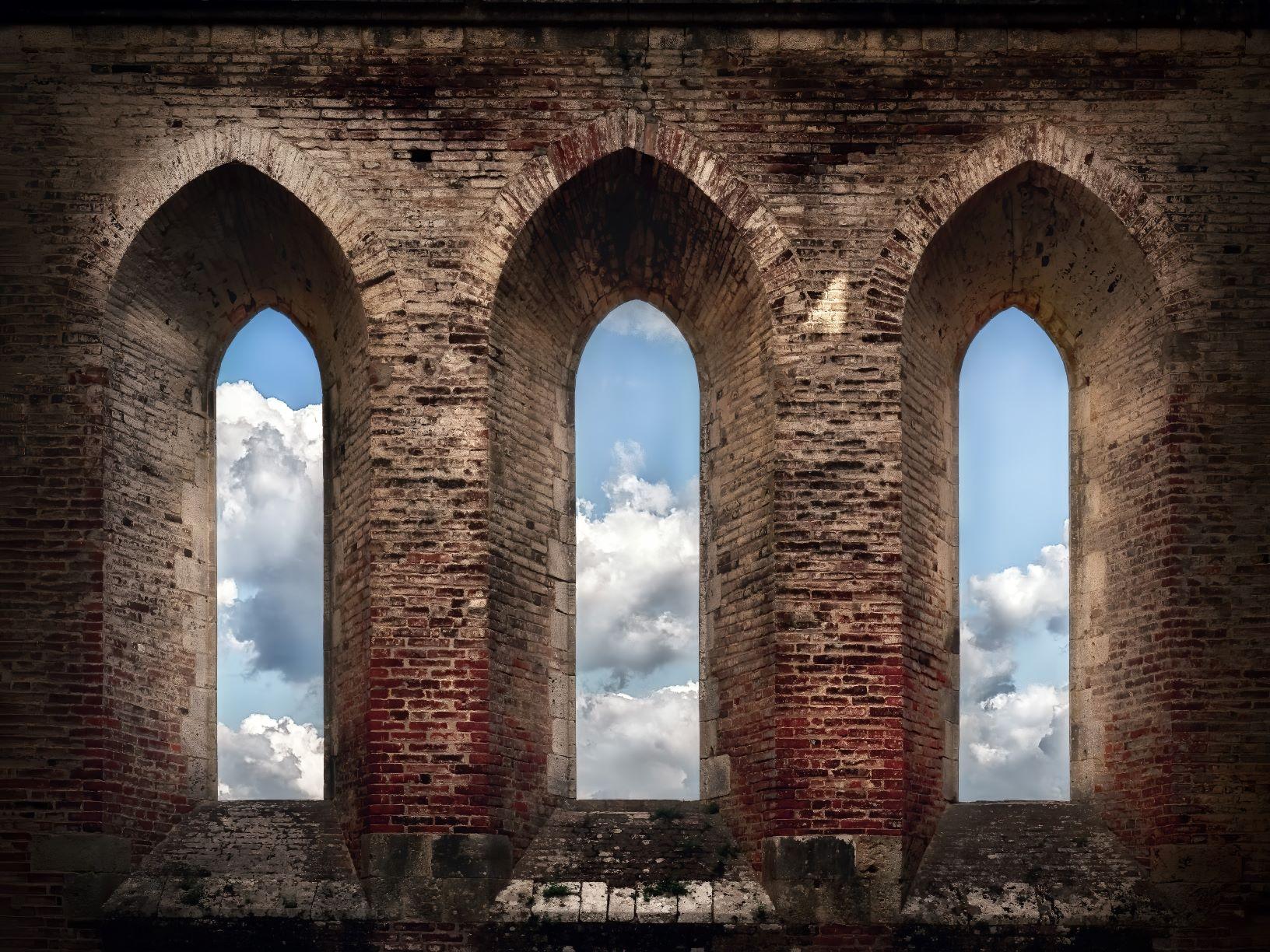 Fenster einer mittelalterlichen Burg