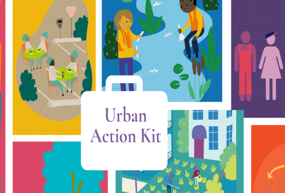 The image shows the cover illustration of the Urban Action Kit