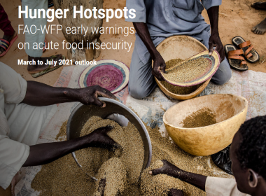 The image shows the cover of the Hunger Hotspots report