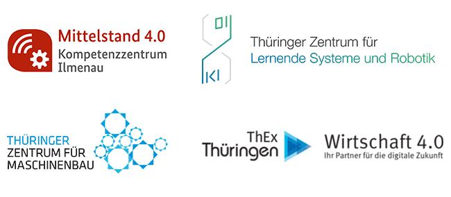 Logos Kompetenzzentrum Ilmenau, Thüringer Zentrum für Maschinenbau, Thüringer Zentrum für Lernende Systeme und Robotik, Wirtschaft 4.0