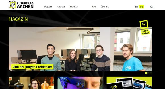 FutureLab Aachen Website (c) Stadt Aachen