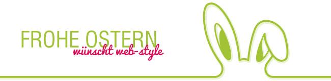 Frohe Ostern wünscht web-style