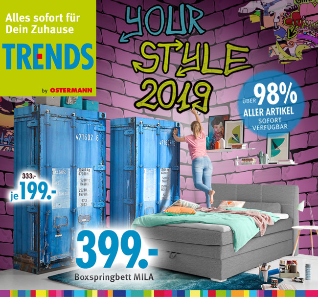 YOUR STYLE 2019 - Boxspringbett MILA