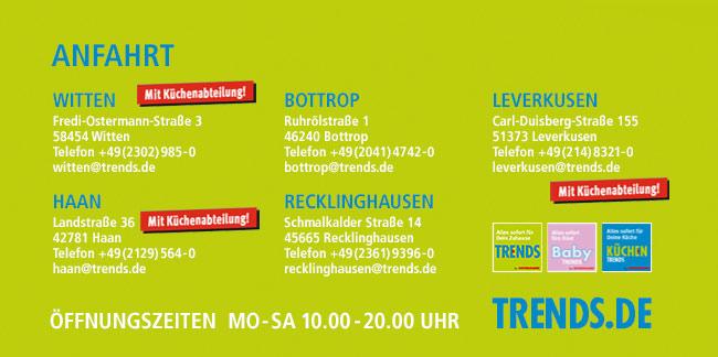 Trends in Witten, Haan, Recklinghausen, Bottrop und Leverkusen