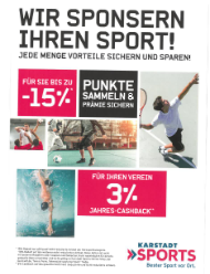 Kooperation mit Karstadt Sports