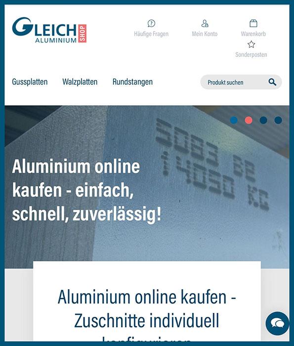 GLEICH Aluminium Online Shop