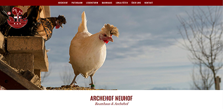 Neue Archehof Website
