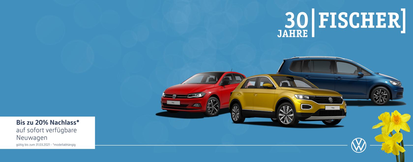 Volkswagen Frühjahrsdeals – bis zu 20% sparen