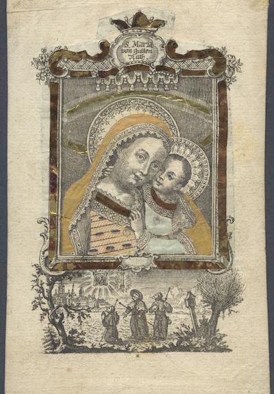 Andachtsbild - S. Maria von gutten Rath.